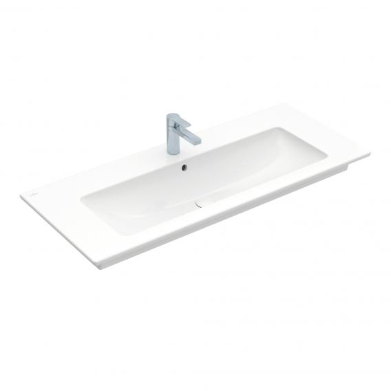 Villeroy & Boch Venticello washbasin with vanity unit with 4 pull-out compartments white, with CeramicPlus, with 1 tap hole, with overflow