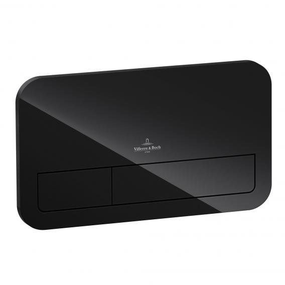 Villeroy & Boch ViConnect L200 flush plate with LED lighting glass, glossy black