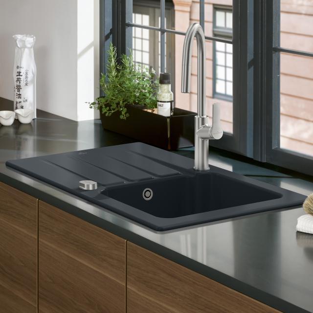 Villeroy & Boch Architectura 45 sink ebony/position boreholes 1 and 2