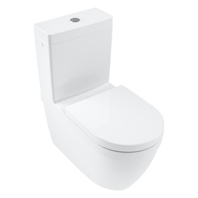Villeroy & Boch Architectura floorstanding washdown toilet, rimless white, with CeramicPlus