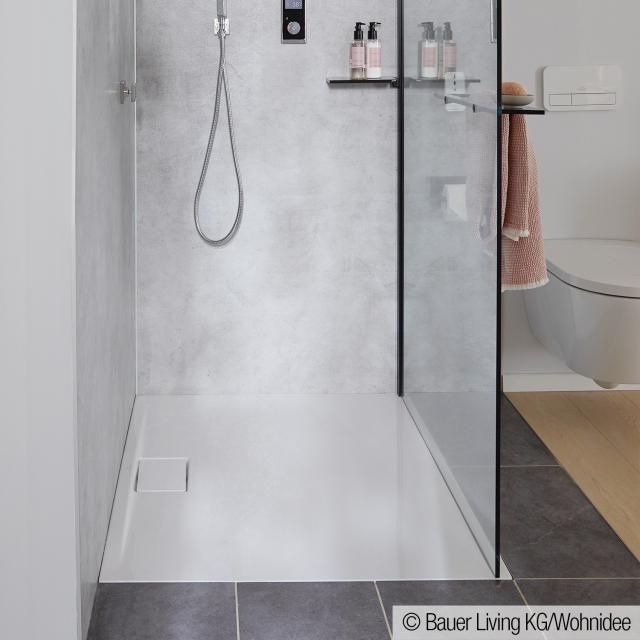 Villeroy & Boch Architectura MetalRim Receveur de douche ultra plat, hauteur de rebord : 1,5 cm blanc