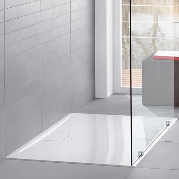 Villeroy & Boch Architectura MetalRim shower tray, flat 4.8 cm white, with VilboGrip anti-slip surface