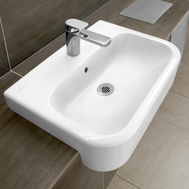 Villeroy & Boch Architectura semi-recessed basin white, with CeramicPlus