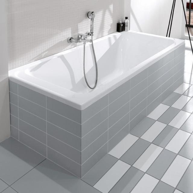 Villeroy & Boch Architectura Solo rectangular bath, built-in white