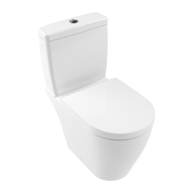 Villeroy & Boch Avento floorstanding close-coupled washdown toilet, rimless white, with CeramicPlus