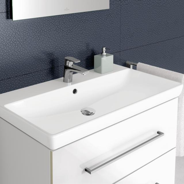Villeroy & Boch Avento washbasin white, with CeramicPlus, with overflow