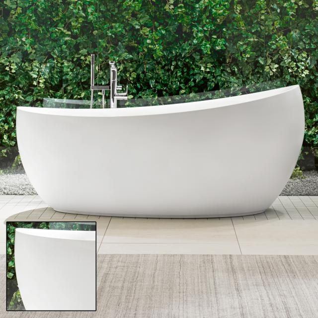 Villeroy & Boch Aveo New Generation freestanding oval bath stone white, with waste and overflow