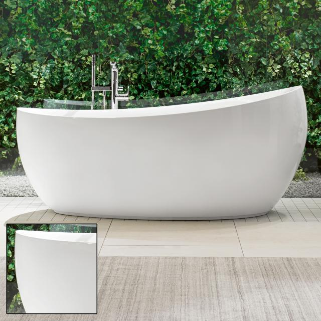 Villeroy & Boch Aveo New Generation freestanding oval bath white, with waste and overflow