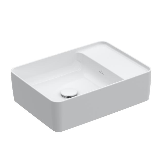 Villeroy & Boch Collaro countertop washbasin white, with CeramicPlus, without tap hole