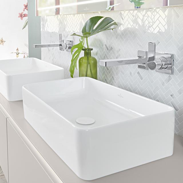 Villeroy & Boch Collaro countertop washbasin white, with CeramicPlus