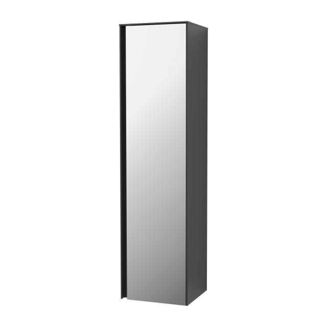 Villeroy & Boch Collaro tall unit with 1 door front matt black / corpus matt black, handle strip matt black
