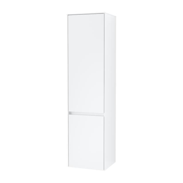 Villeroy & Boch Collaro tall unit with 2 doors front matt white / corpus matt white, recessed handle matt white