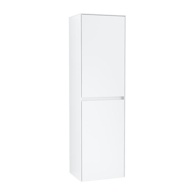 Villeroy & Boch Collaro tall unit with 2 doors and 1 laundry basket front matt white / corpus matt white, recessed handle matt white