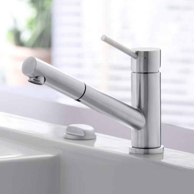 Villeroy & Boch Como Shower single lever kitchen mixer stainless steel