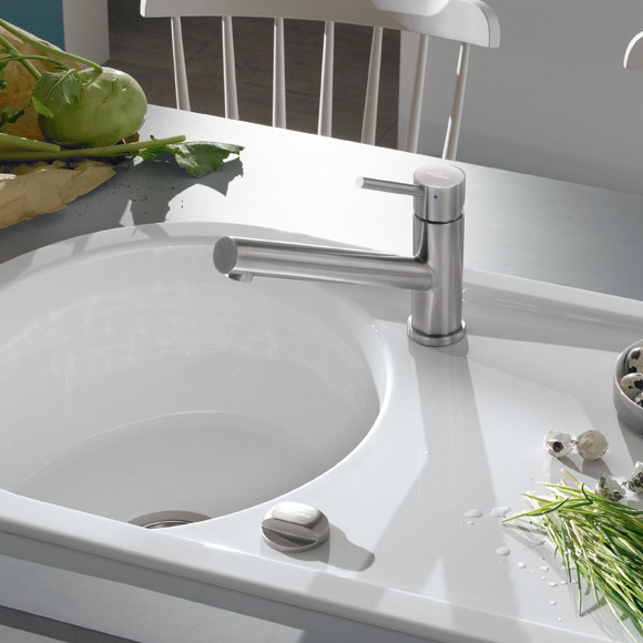Villeroy & Boch Como single lever kitchen mixer stainless steel