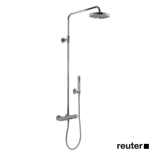 Villeroy & Boch Cult/L'Aura wall-mounted shower thermostat, with fixed rail & hand shower chrome