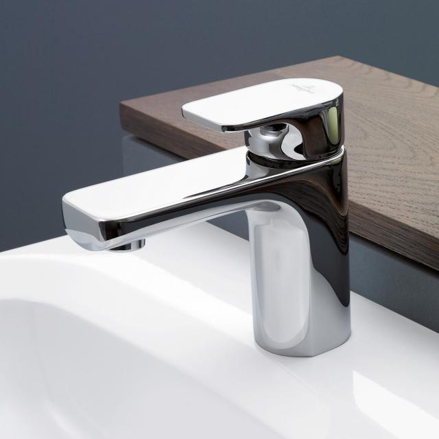 Villeroy & Boch Cult single lever basin mixer with pop-up waste set, chrome