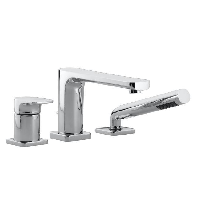 Villeroy & Boch Cult tile-mounted, three hole, single lever bath mixer chrome