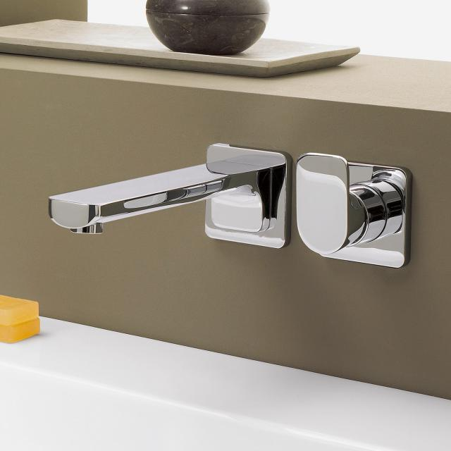 Villeroy & Boch Cult wall-mounted single lever basin mixer with individual escutcheon chrome