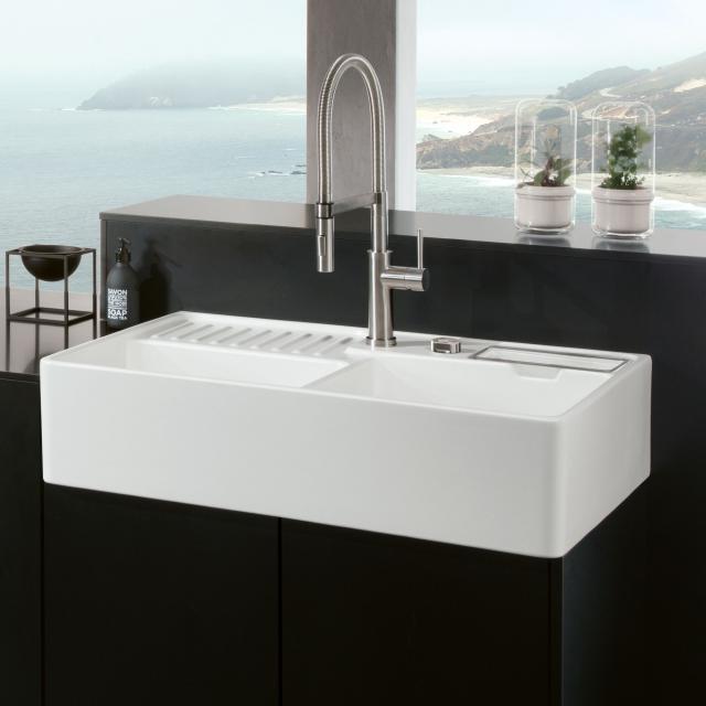 Villeroy & Boch butler sink white alpine high gloss/position boreholes 1 and 2