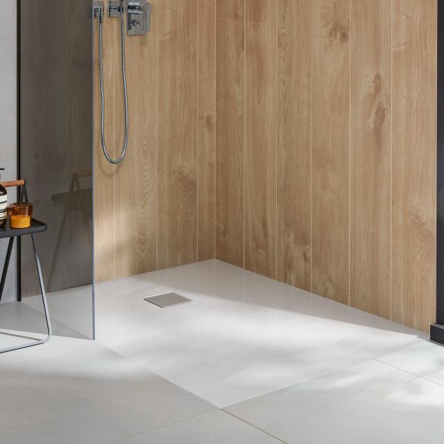 Villeroy & Boch Embrace complete shower tray set white, with VilboGrip anti-slip surface