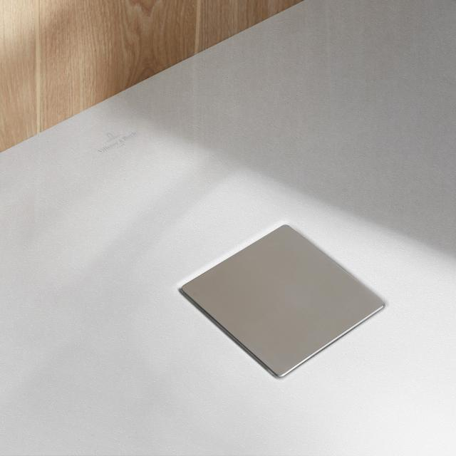 Villeroy & Boch Embrace waste cover brushed stainless steel