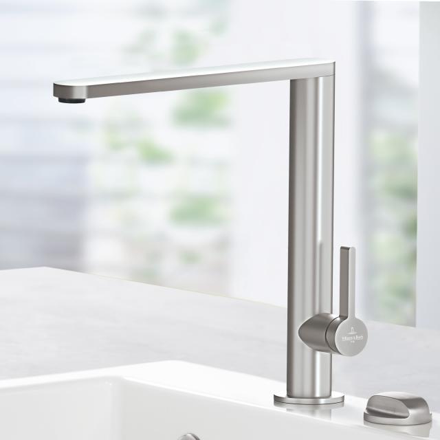 Villeroy & Boch Finera single lever kitchen mixer stainless steel
