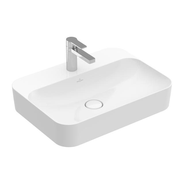 Villeroy & Boch Finion countertop washbasin white, with CeramicPlus, with concealed overflow