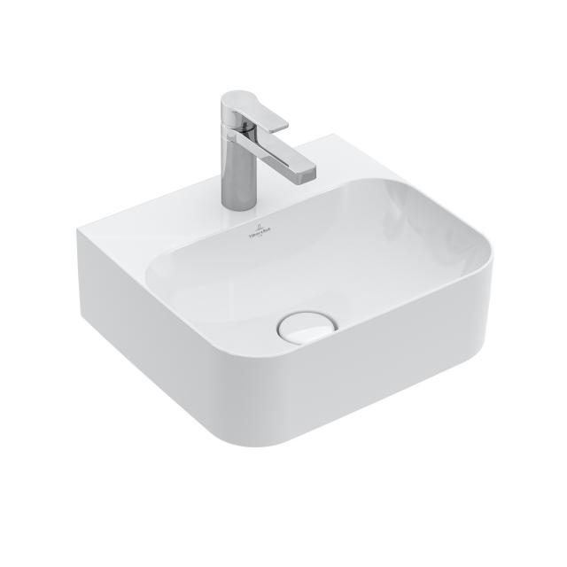 Villeroy & Boch Finion hand washbasin white, with CeramicPlus, ungrounded, without overflow