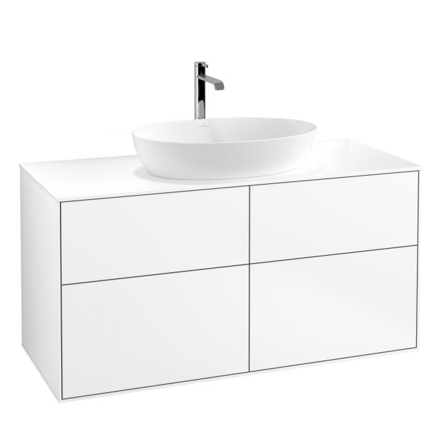 Villeroy & Boch Finion vanity unit for countertop washbasin with 4 pull-out compartments front matt white / corpus matt white, top cover matt white