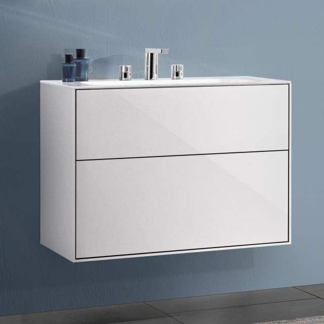 Villeroy & Boch Finion vanity unit with 2 pull-out compartments front glossy white / corpus glossy white