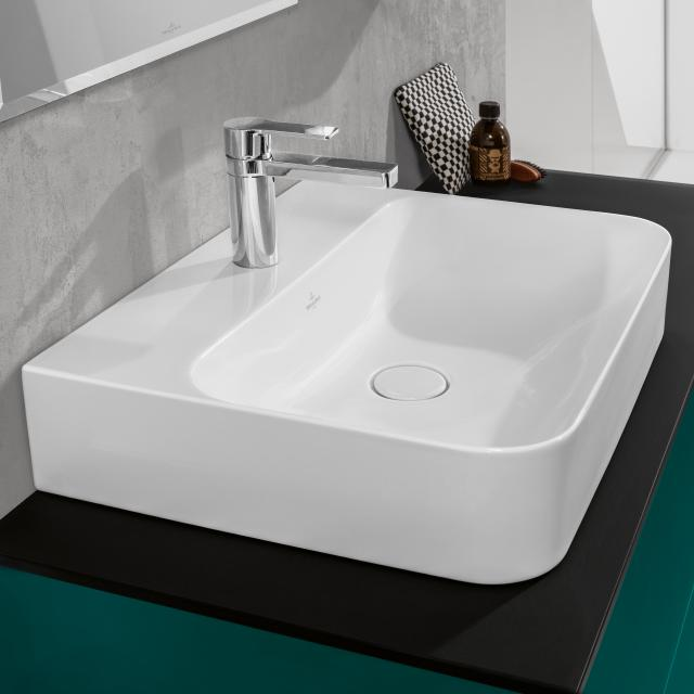 Villeroy & Boch Finion washbasin white, with CeramicPlus, ungrounded, with concealed overflow