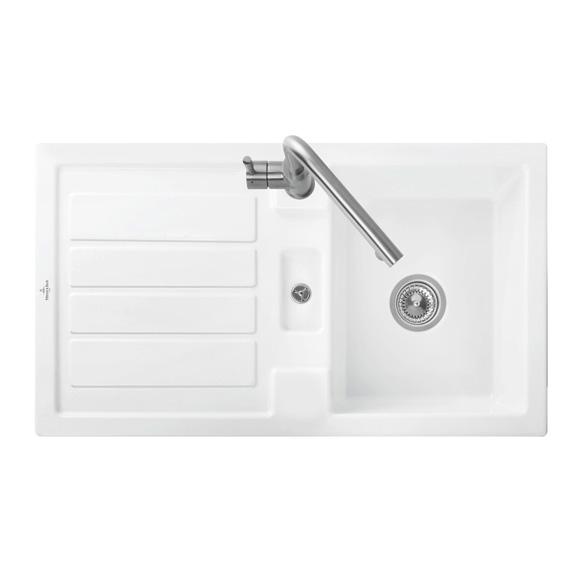 Villeroy & Boch Flavia 50 sink white alpine high gloss/without tap hole