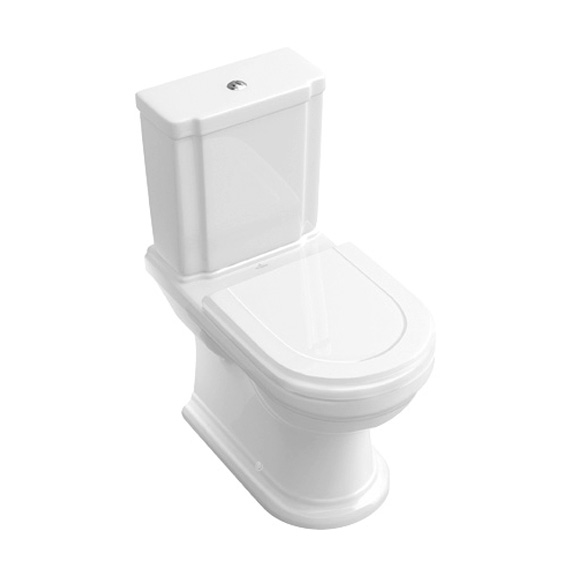 Villeroy & Boch Hommage floorstanding close-coupled washdown toilet white, with CeramicPlus