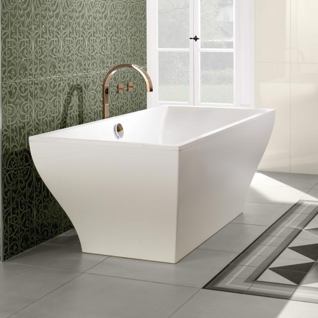 Villeroy & Boch La Belle Excellence duo freestanding rectangular bath stone white