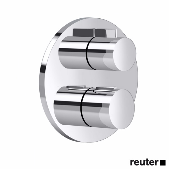 Villeroy & Boch L´Aura/Subway concealed thermostat with one-way volume control chrome