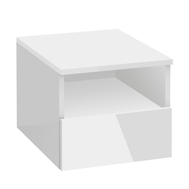 Villeroy & Boch Legato add-on unit with pull-out compartment front glossy white / corpus glossy white