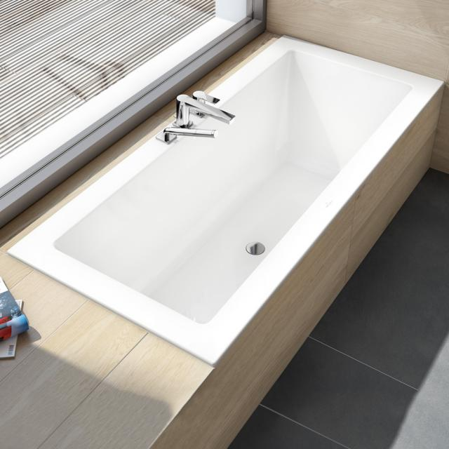 Villeroy & Boch Legato Duo rectangular bath, built-in white