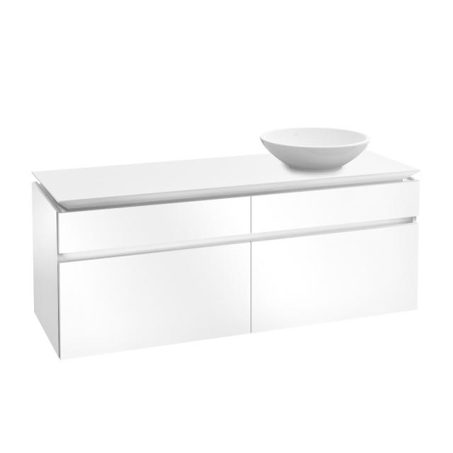 Villeroy & Boch Legato LED vanity unit for countertop washbasin with 4 pull-out compartments front glossy white / corpus glossy white