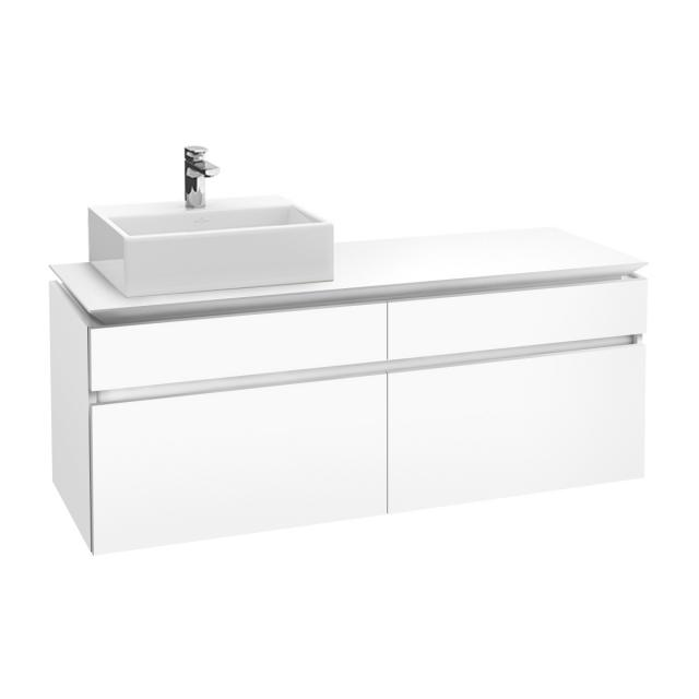 Villeroy & Boch Legato LED vanity unit for countertop washbasin with 4 pull-out compartments front matt white / corpus matt white