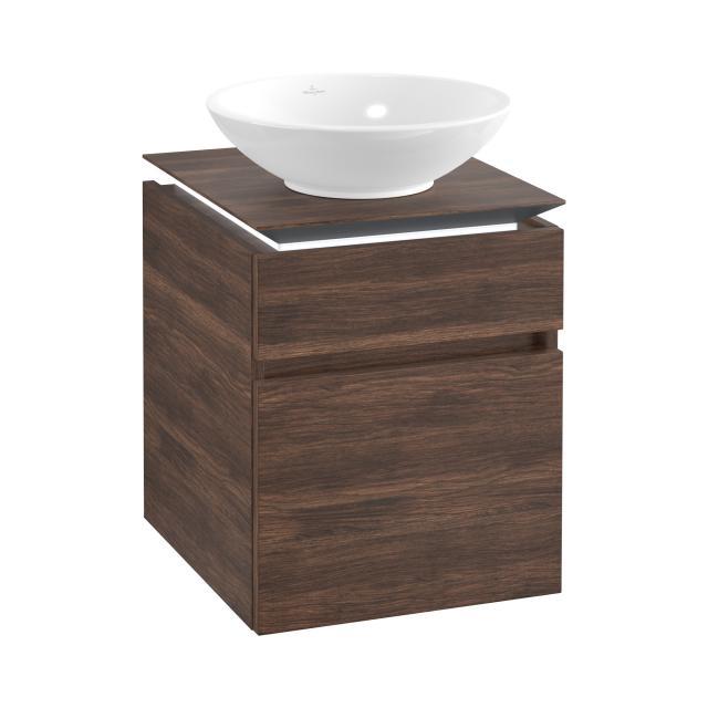 Villeroy & Boch Legato LED vanity unit for countertop washbasin with 2 pull-out compartments front arizona oak / corpus arizona oak