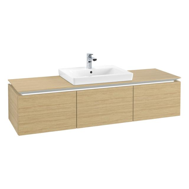 Villeroy & Boch Legato LED vanity unit with 3 pull-out compartments front nordic oak / corpus nordic oak