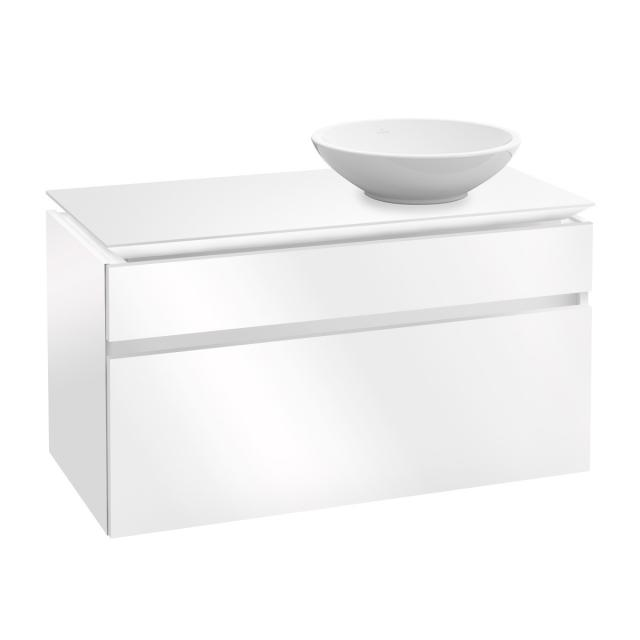 Villeroy & Boch Legato vanity unit for countertop washbasin with 2 pull-out compartments front glossy white / corpus glossy white