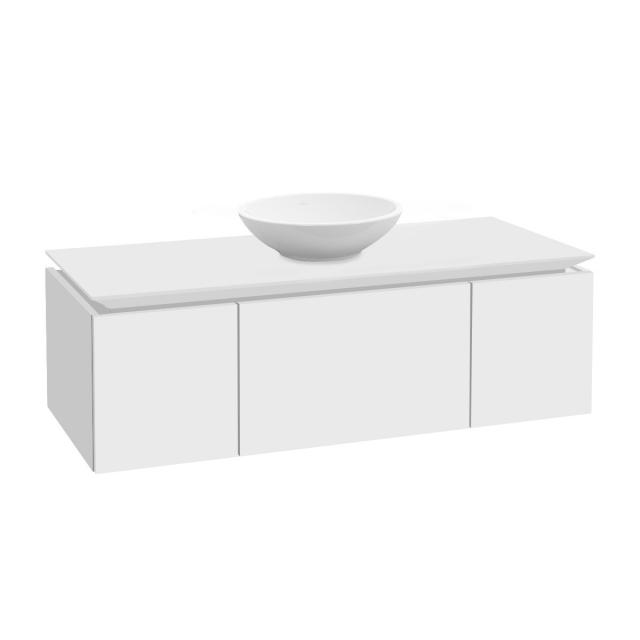 Villeroy & Boch Legato vanity unit for countertop washbasin with 3 pull-out compartments front matt white / corpus matt white