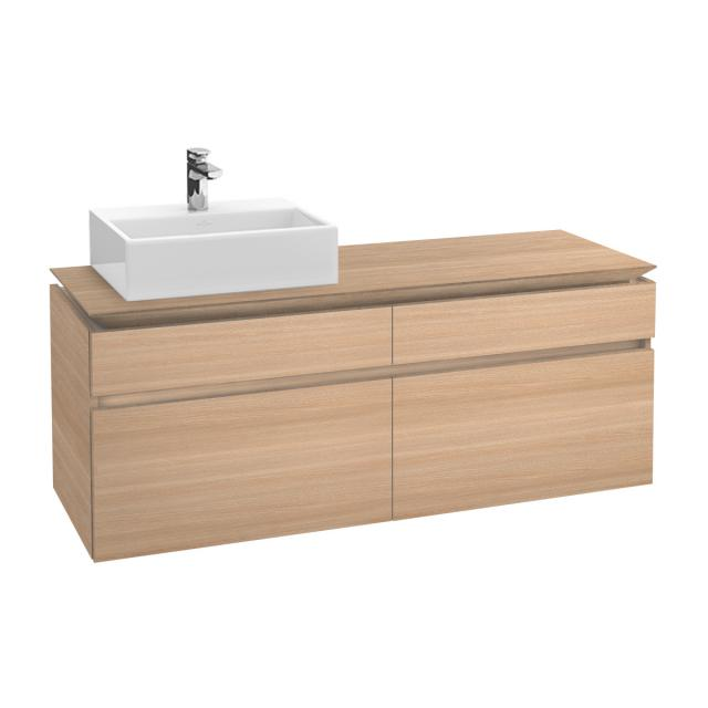 Villeroy & Boch Legato vanity unit for countertop washbasin with 4 pull-out compartments front impresso elm / corpus impresso elm
