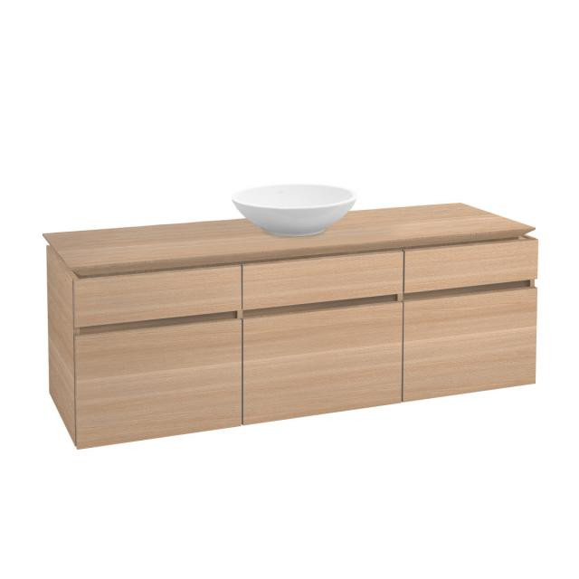 Villeroy & Boch Legato vanity unit for countertop washbasin with 5 pull-out compartments front impresso elm / corpus impresso elm