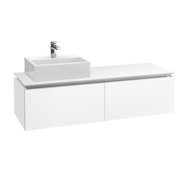 Villeroy & Boch Legato vanity unit for countertop washbasin with 2 pull-out compartments front matt white / corpus matt white