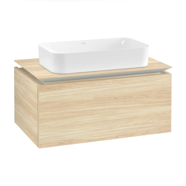 Villeroy & Boch Legato vanity unit for countertop washbasin with 1 pull-out compartment front impresso elm / corpus impresso elm