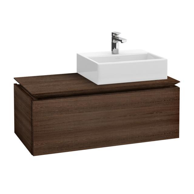 Villeroy & Boch Legato vanity unit for countertop washbasin with 1 pull-out compartment front santana oak / corpus santana oak