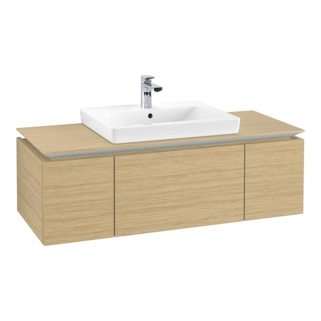 Villeroy & Boch Legato vanity unit with 3 pull-out compartments front nordic oak / corpus nordic oak
